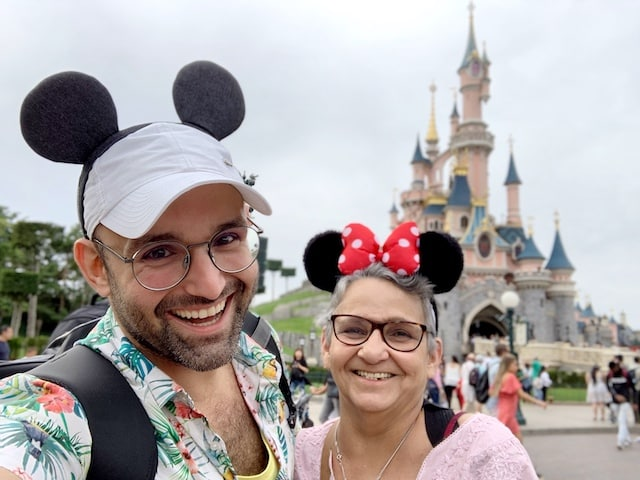 Image showing my mother and I in the Disneyland Park