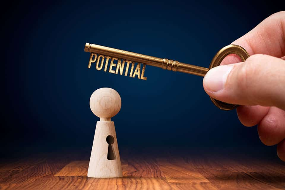 Article featured image showing a key with the word potential